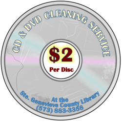 cd cleaning service at ste gen county library